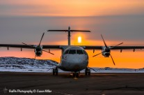 ATR 42 with Spring Sunset in Iqaluit