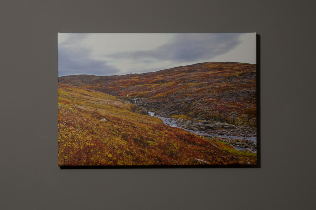 Tundra in the Fall, Iqaluit. 16x24 Canvas - $150.00